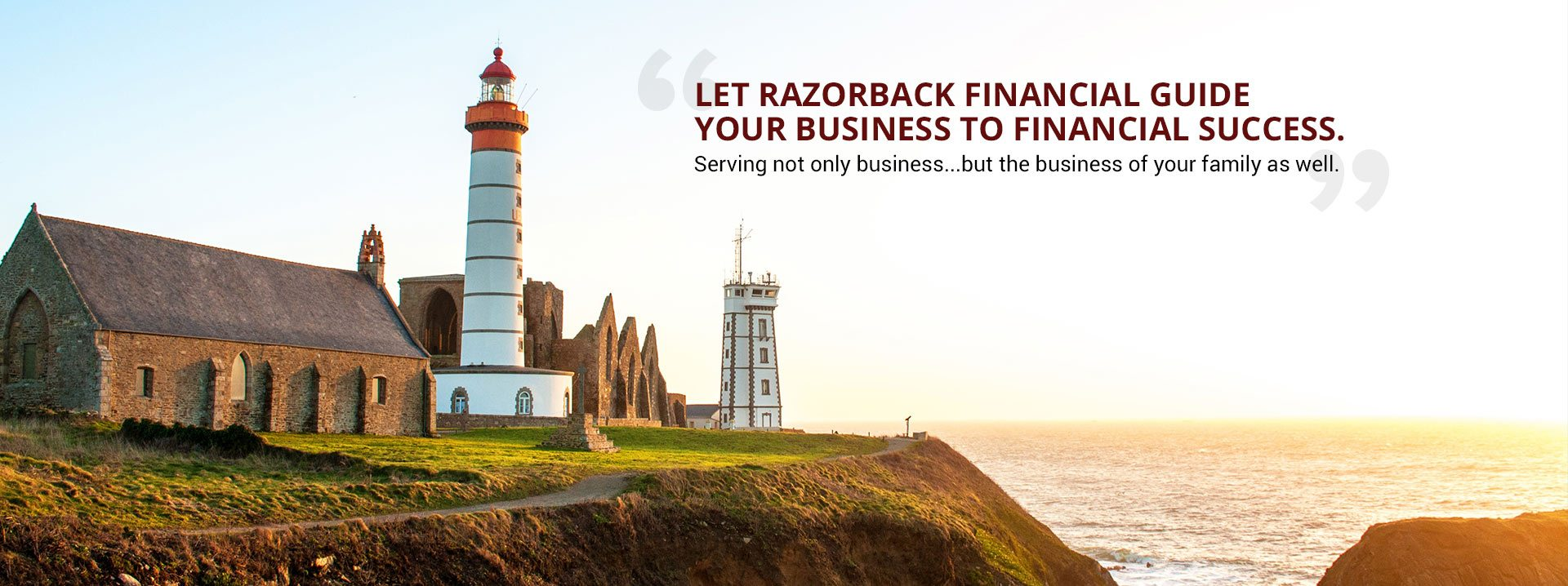 Let Razorback Financial Guide your business to financial success.